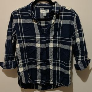 Like new Old Navy girls plaid button up